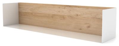 Arredamento - Scaffali e librerie - Mensola U Shelf / L 70 cm - Universo Positivo - Rovere naturale / Bianco - metallo laccato, Rovere massello