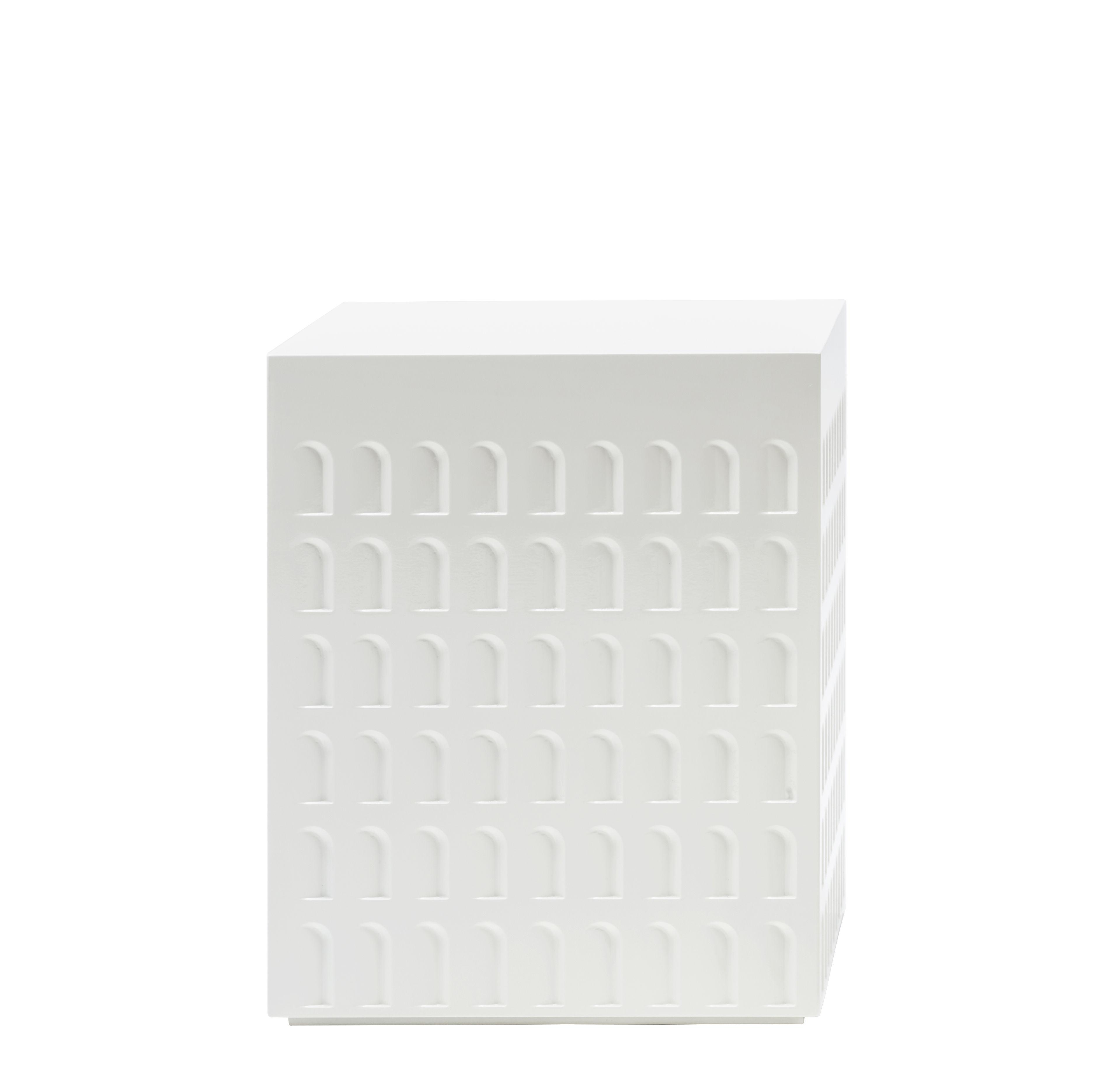 Arredamento - Tavolini  - Sgabello Eur - / Tavolino di Kartell - Bianco - Tecnopolimero termoplastico