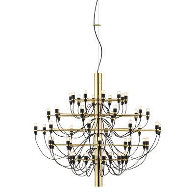 Illuminazione - Lampadari - Sospensione 2097 - / 50 lampadine smerigliate INCLUSE - Ø 100 cm di Flos - Laiton - Ferro