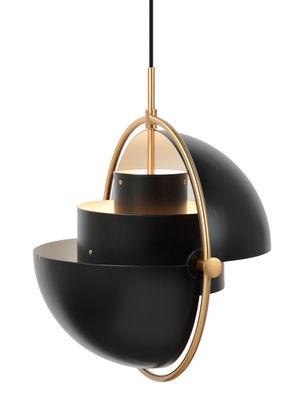 Illuminazione - Lampadari - Sospensione Multi-Lite Large - / Modulabile & orientabile - Riedizione 1974 di Gubi - Nero / ottone - Metallo