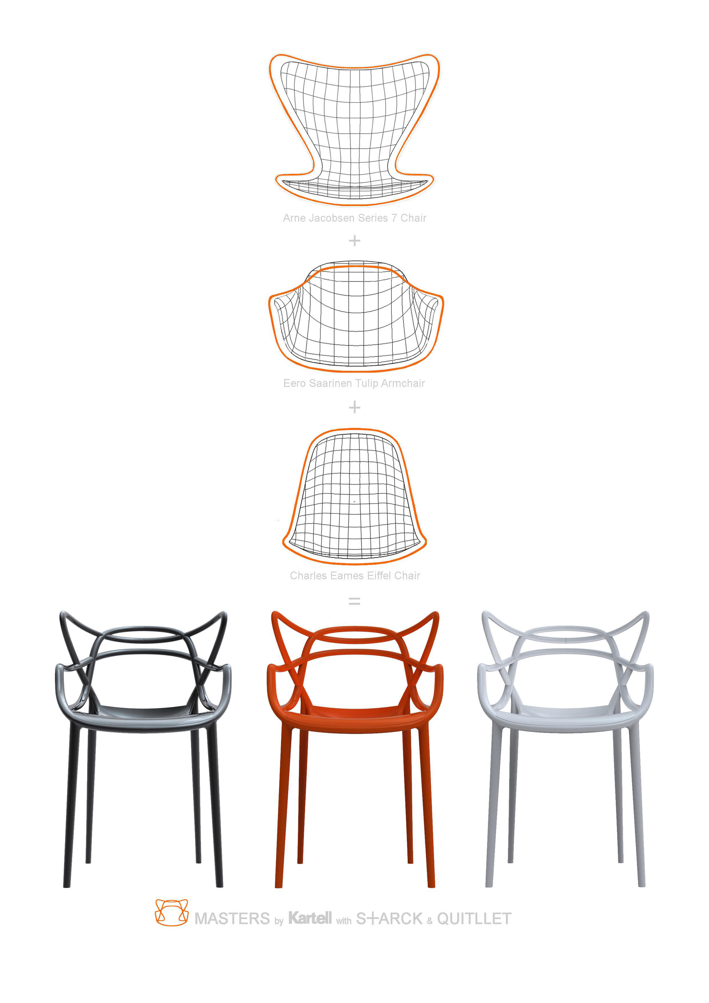 Stackable Armchair Masters By Kartell Grey