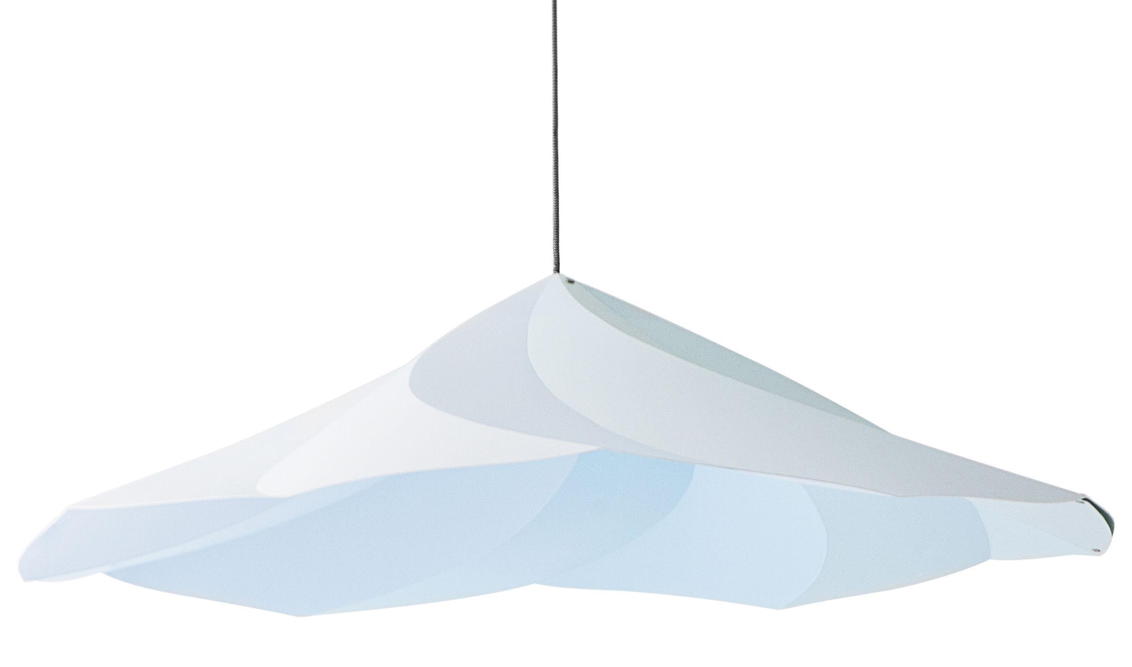 Luminaire - Suspensions - Suspension Chantilly / Ø 102 cm - Moustache - Bleu - Polypropylène recyclé