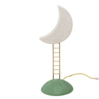 Lighting - Table Lamps - My Secret Place Table lamp - / H 51 cm by Seletti - White, gold & green - Resin