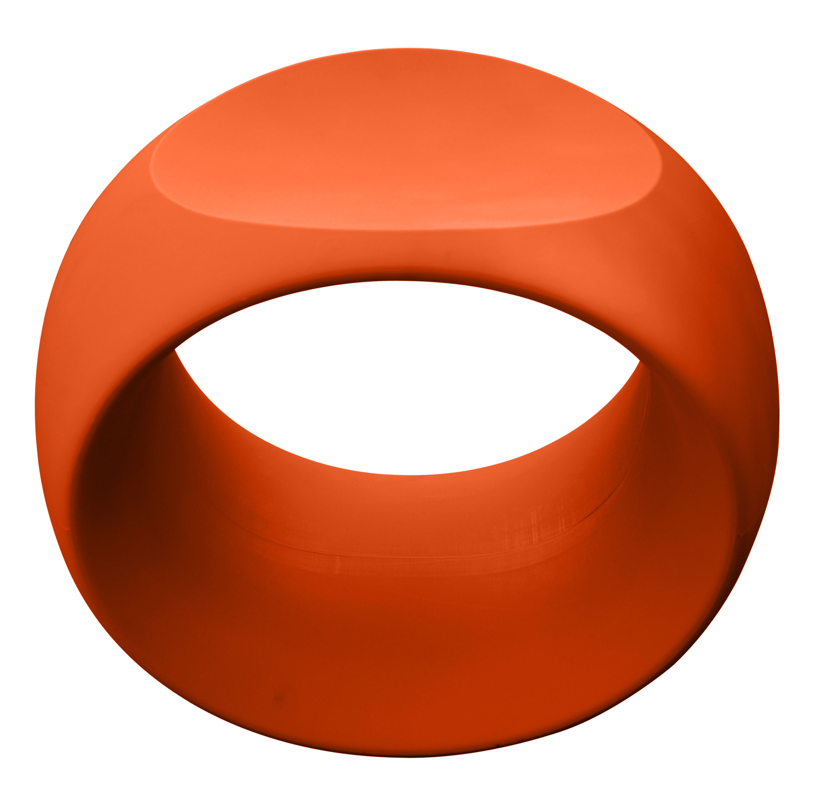 Mobilier - Tabourets bas - Tabouret Cero / Plastique - Serralunga - Orange - Polyéthylène rotomoulé