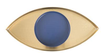 Vide-poche The Eye / Set 2 plateaux - Doiy bleu,or en métal