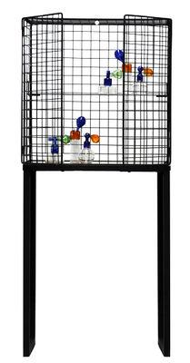 Möbel - Regale und Bücherregale - Les Volières Vitrine / L 71 cm x H 164 cm - Seletti - Schwarz - Glas, Metall