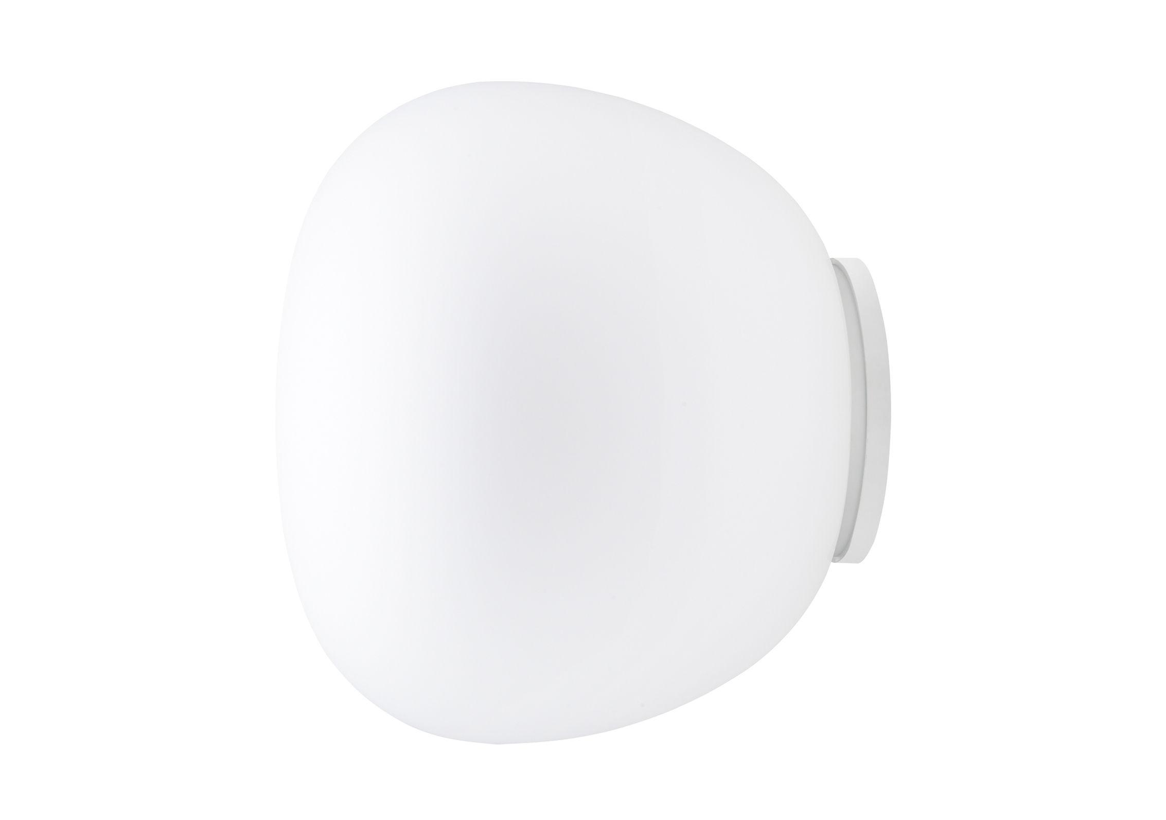 Lighting - Wall Lights - Mochi Wall light - Ø 30 cm by Fabbian - White - Ø 30 cm - Glass