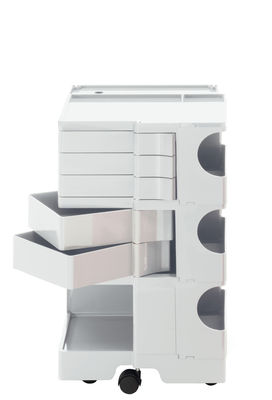 Möbel - Couchtische - Boby Ablage / H 73 cm - 5 Schubladen - B-LINE - Weiß - ABS