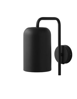 Applique avec prise Chill / H 25 cm - Frandsen noir en métal