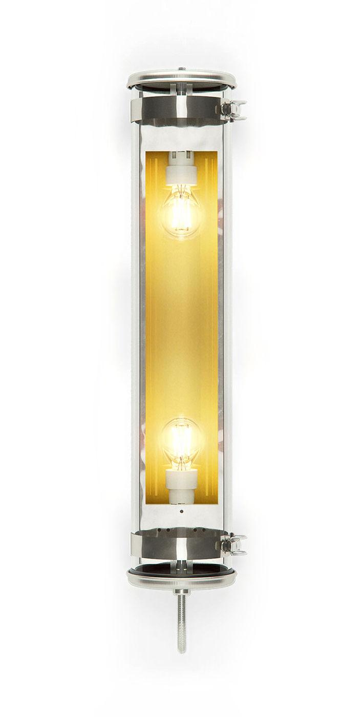 Illuminazione - Lampade da parete - Applique Rimbaud - / Sospensione - L 68 cm di SAMMODE STUDIO - Acier / Laiton - Acciaio inossidabile, Alluminio anodizzato, Verre borosilicaté