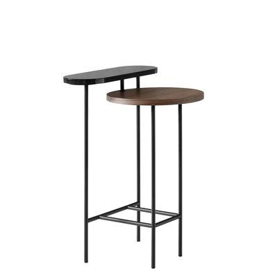 Palette JH26 Beistelltisch / 2 Tischplatten - &tradition - Schwarz,Holz natur