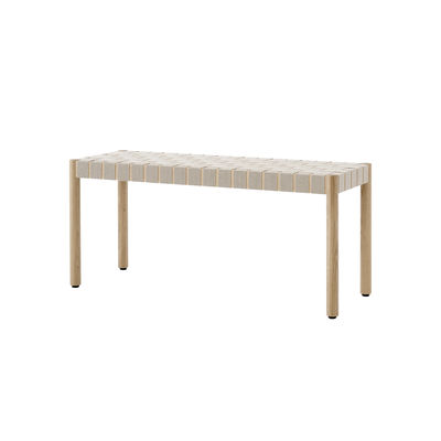 Furniture - Benches - Betty TK4 Bench - / L 105 cm - Linen straps by &tradition - Oak / Natural linen - Linen, Solid oak