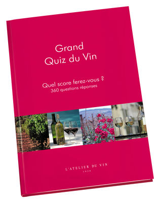 Accessories - Books & Bookmarks - Grand Quiz du Vin Book - Great Wine Quiz : 360 Questions Answers by L'Atelier du Vin - Red - Paper