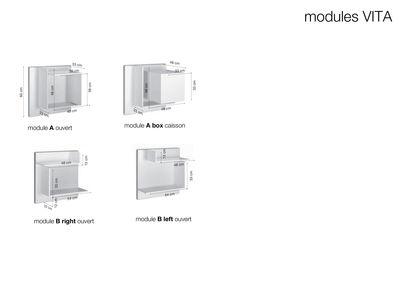 Furniture - Miscellaneous furniture - Vita n°15 Bookcase - L 180 x H 180 ...
