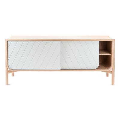 Buffet Marius / Meuble TV - L 185 x H 65 cm - Hartô gris/bois naturel en bois