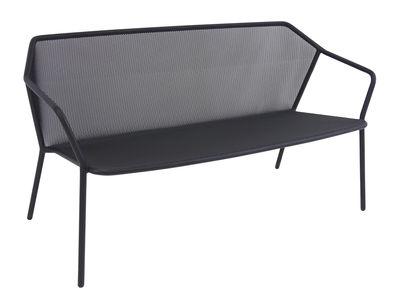 Outdoor - Canapés - Canapé droit Darwin / Résille métal - L 140 cm - Emu - Noir - Acier verni