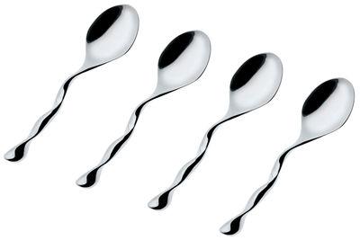 Tableware - Cutlery - Il Caffè Alessi Coffee, tea spoon - Set of 4 by Alessi - Steel - Stainless steel