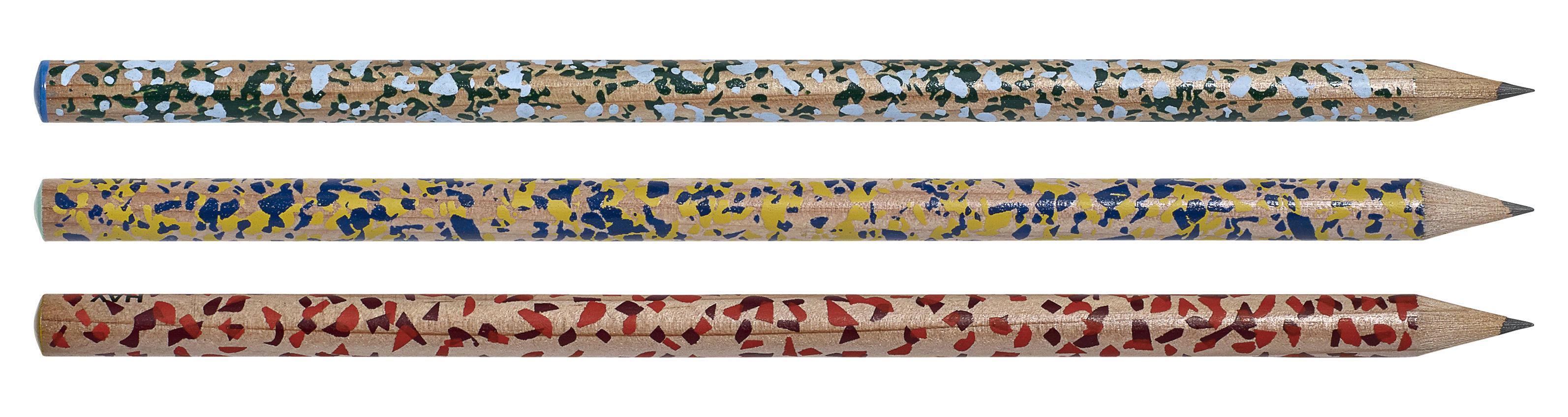 Accessoires - Bloc-notes, cahiers et stylos - Crayon à papier Terrazzo - Hay - Multicolore - Bois