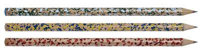 Accessoires - Bloc-notes, cahiers et stylos - Crayon Terrazzo - Hay - Multicolore - Bois