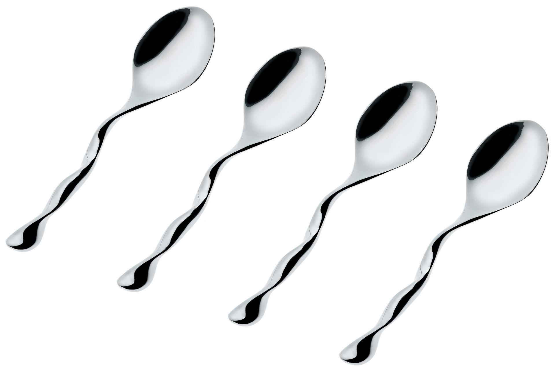Tavola - Posate - Cucchiaio da caffé Il Caffè Alessi - Set di 4 di Alessi - Acciaio - Acciaio inossidabile