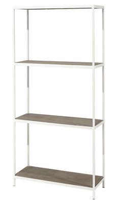 Mobilier - Etagères & bibliothèques - Etagère Concrete / Béton & métal - L 80 x H 167 cm - Serax - Ciment gris / Blanc - Ciment brut, Métal laqué