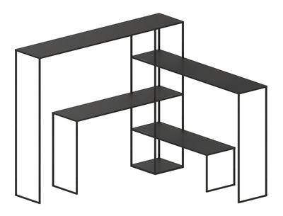 Etagère Easy Bridge / 4 plateaux modulables - H 141 cm - Zeus noir cuivré en métal