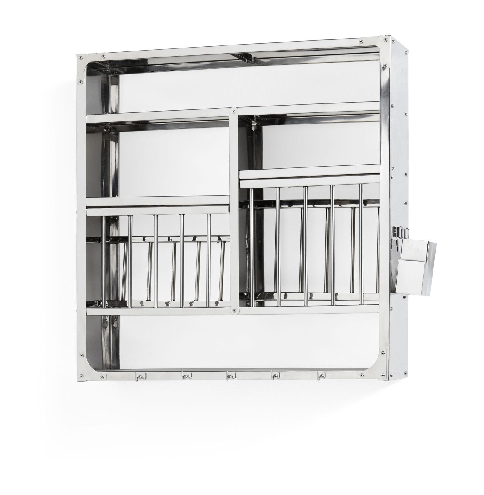 Mobilier - Compléments d'ameublement - Etagère Indian Large / Vaisselier - L 77 x H 78 cm - Hay - Large / Acier - Acier inoxydable