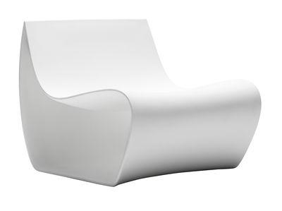 Mobilier - Fauteuils - Fauteuil bas Sign Matt / Polyéthylène - MDF Italia - Blanc - Polyéthylène