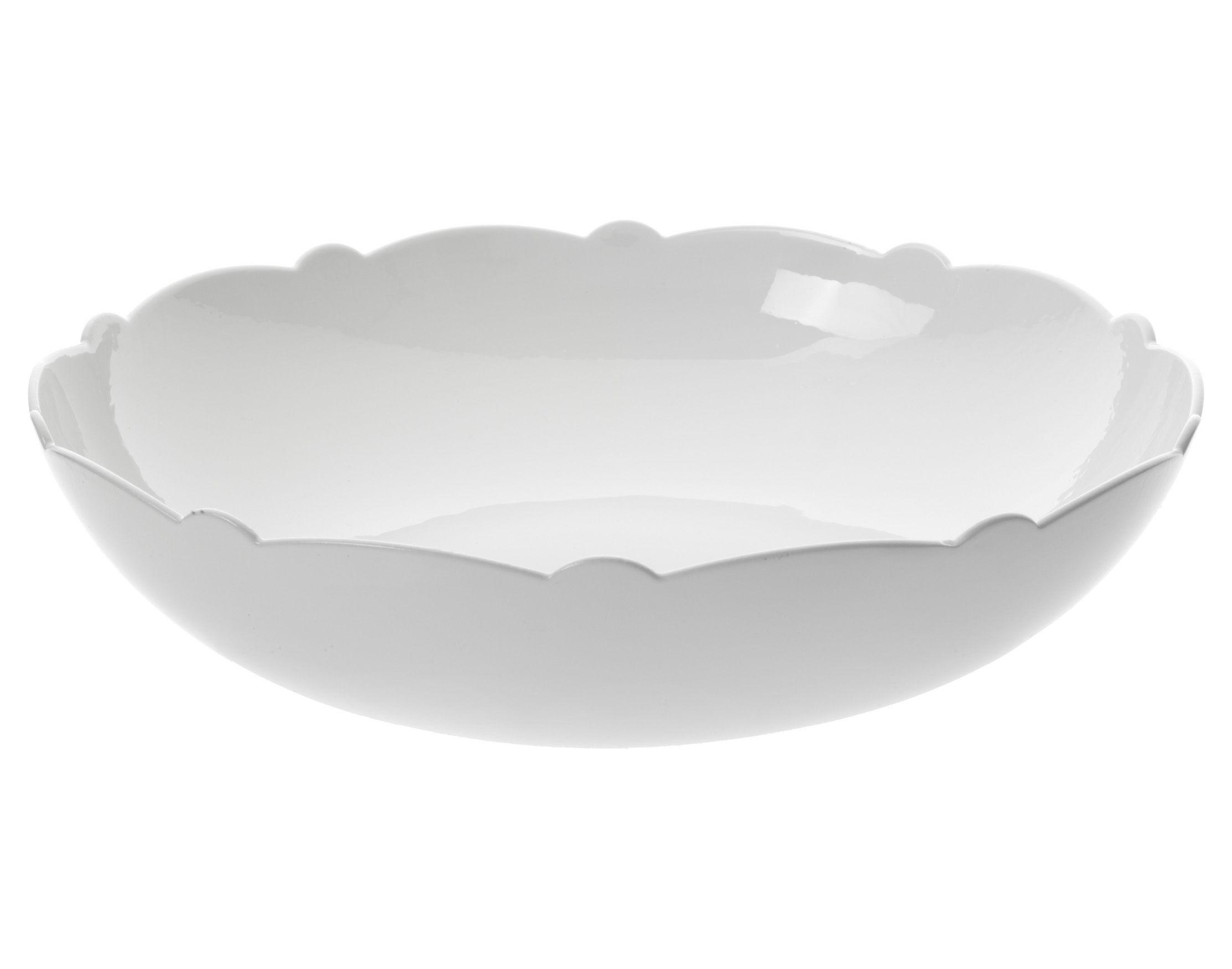 Tavola - Ciotole - Insalatiera Dressed - Ø 29 cm di Alessi - Insalatiera Ø 29 cm - Bianco - Porcellana