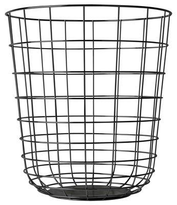 Dekoration - Mülleimer - Wire Korb / Korb - Ø 32 cm x H 35 cm - Menu - Schwarz - lackierter Stahl