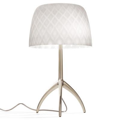 Illuminazione - Lampade da tavolo - Lampada da tavolo Lumière Grande 30th - / H 45 cm - Edizione limitata & numerata di Foscarini - Motivo Pastiglie / Piede Champagne - Alluminio pressofuso, Vetro soffiato a bocca