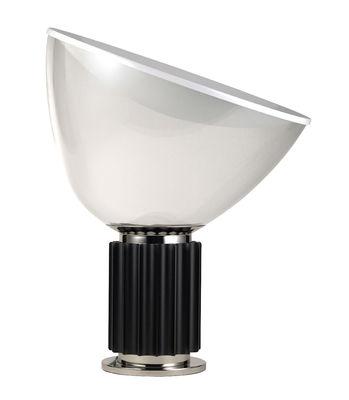 Illuminazione - Lampade da tavolo - Lampada da tavolo Taccia LED - / Diffusore di plastica - H 54 cm di Flos - Base nera - Alluminio, PMMA
