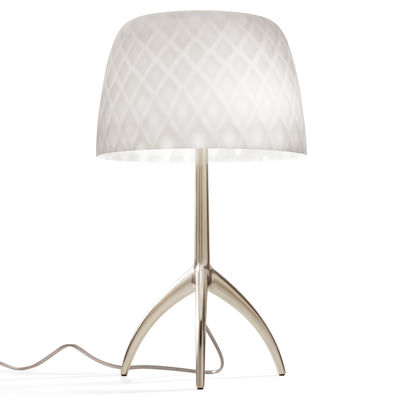 Luminaire - Lampes de table - Lampe de table Lumière Grande 30th / H 45 cm - Foscarini - Motifs Pastilles / Pied champagne - Aluminium moulé sous pression, Verre soufflé bouche