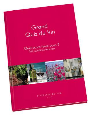 Livre Grand Quiz du Vin 360 questions réponses - L´Atelier du Vin rouge en papier