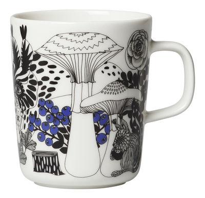 Tableware - Coffee Mugs & Tea Cups - Veljekset Mug - 25 cl by Marimekko - Veljekset / White, Black & Blue - Sandstone