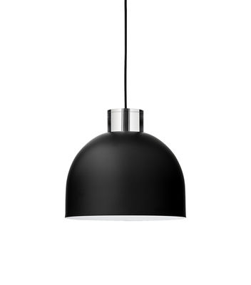 Lighting - Pendant Lighting - Luceo Ronde Pendant - / Small Ø 28 cm - Metal & glass by AYTM - Black - Glass, Painted iron