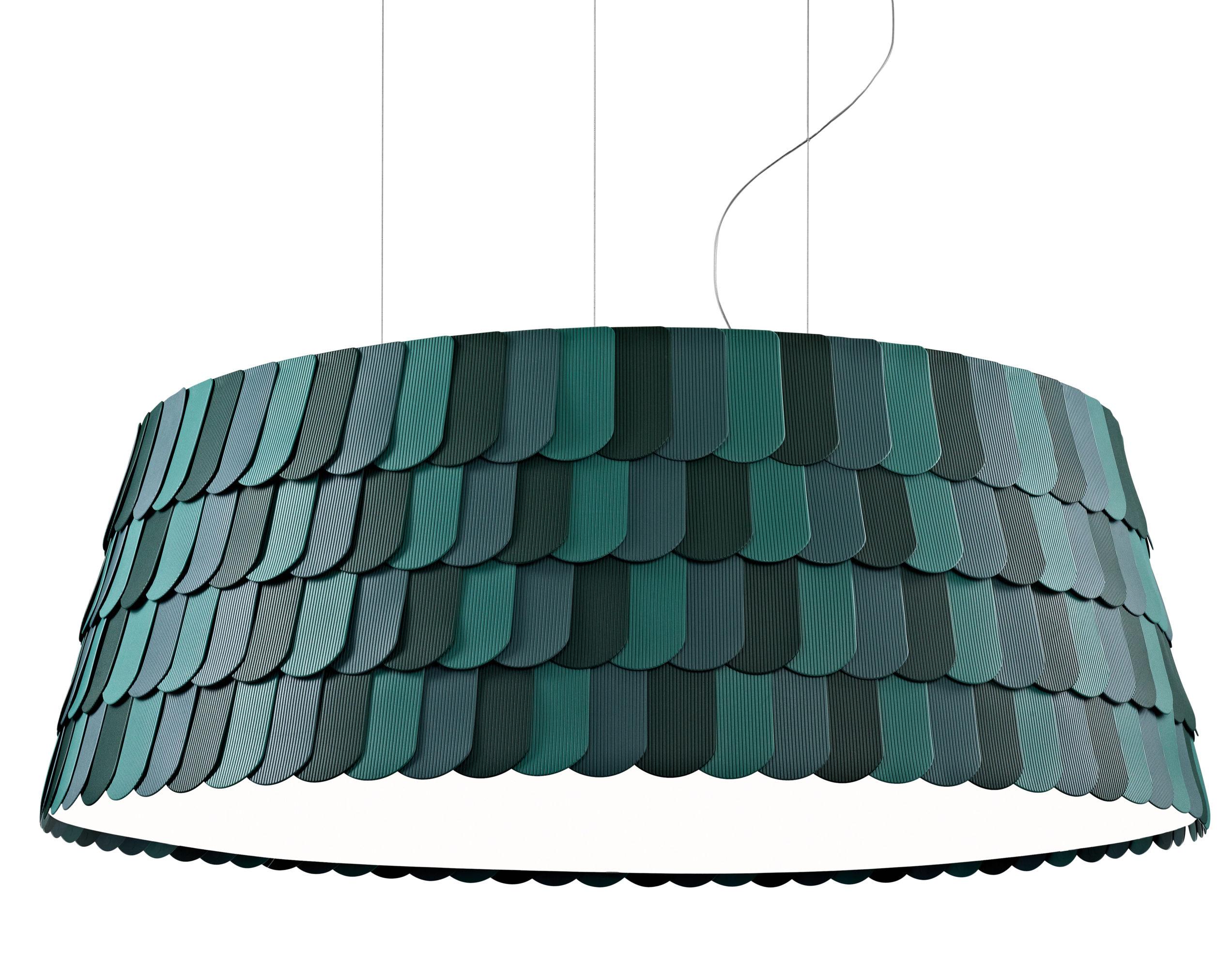 Lighting - Pendant Lighting - Roofer Pendant - Ø 119 x H 41,5 cm by Fabbian - Green - Rubber