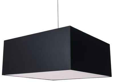 Lighting - Pendant Lighting - Square Boon Pendant by Moooi - Black - Cotton