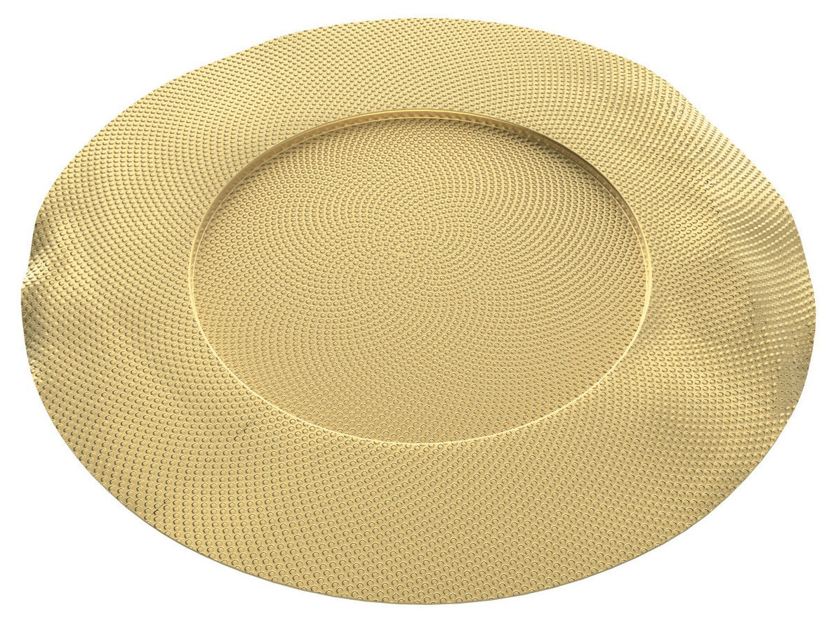 Tableware - Trays - Sitges Placemat - / Brass - Ø 33 cm by Alessi - Brass - Brass