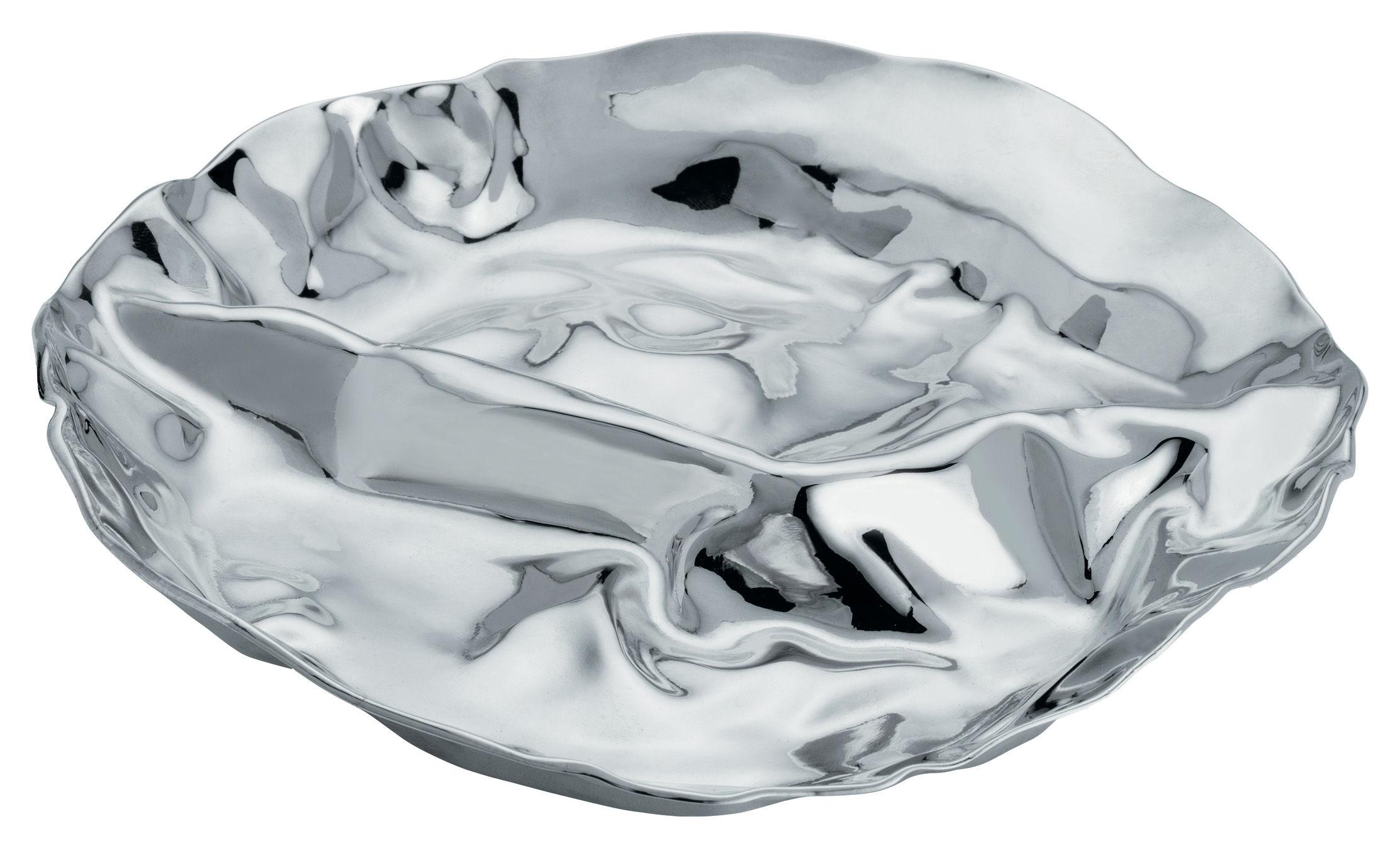 Tischkultur - Platten - Pepa Platte mit 2 Fächern - Alessi - Edelstahl glänzend - 2 Fächer - polierter rostfreier Stahl