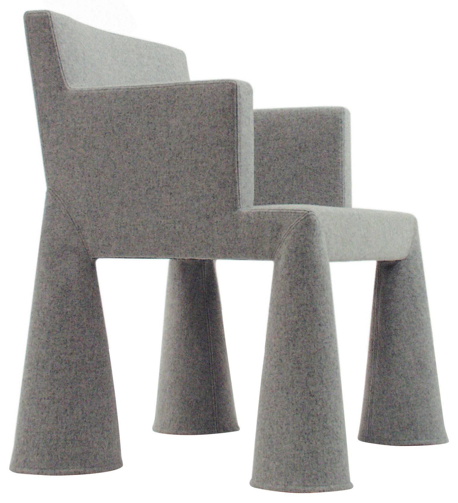 Arredamento - Mobili Ados  - Poltrona a rotelle V.I.P. Chair di Moooi - Grigio chiaro - Acciaio, Espanso, Lana