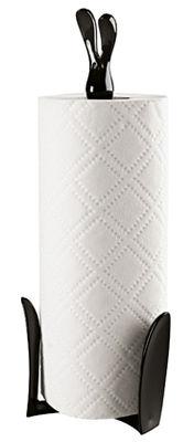Cucina - Pratici e intelligenti - Portarotolo asciugatutto Roger di Koziol - Nero - Materiale plastico