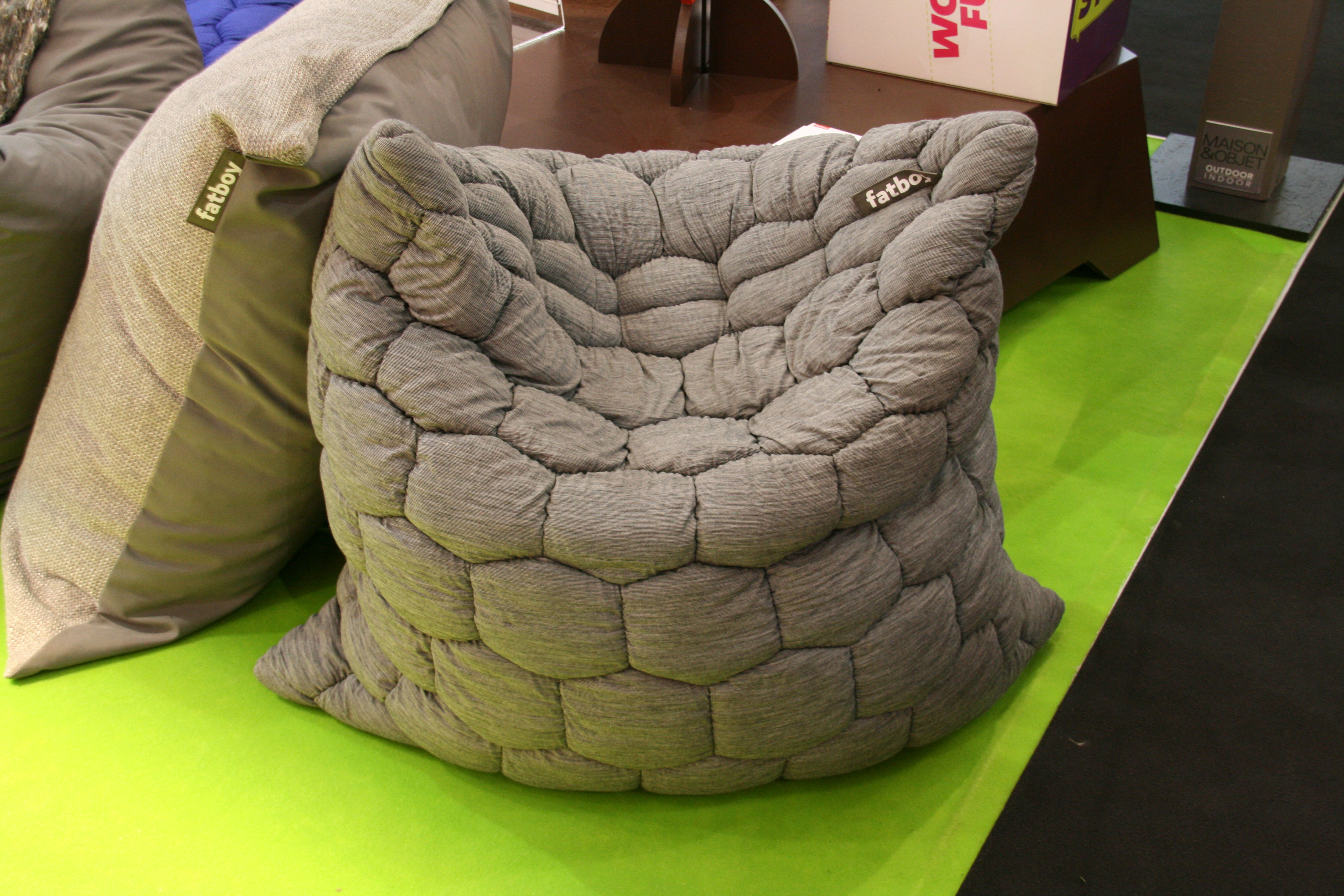 Pouf cuscino fat knit by fatboy grey made in design uk