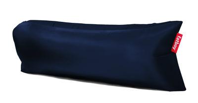 Pouf gonflable Lamzac the Original 2.0 L 200 cm Fatboy Pouf gonflé L 200 x larg. 90 cm x H 50 cm Pouf plié L 35 x Ø 18 cm bleu profond en tissu