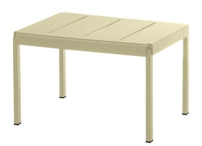 Pouf Shine / Table basse - 60 x 44 cm - Emu taupe en métal
