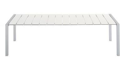 Outdoor - Gartentische - Sushi Outdoor rechteckiger Tisch L 180 cm - Kristalia - weiß laminiert - eloxiertes Aluminium, Fenix-NTM®, geschichtet