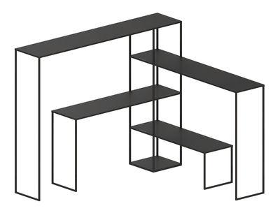 Möbel - Regale und Bücherregale - Easy Bridge Regal / 4 modulare Platten - H 141 cm - Zeus - Kupfer schwarz - bemalter Stahl