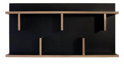 Arredamento - Scaffali e librerie - Mensola Rack / L 90 x H 45 cm - POP UP HOME - Nero / Sezioni: legno - Melamina