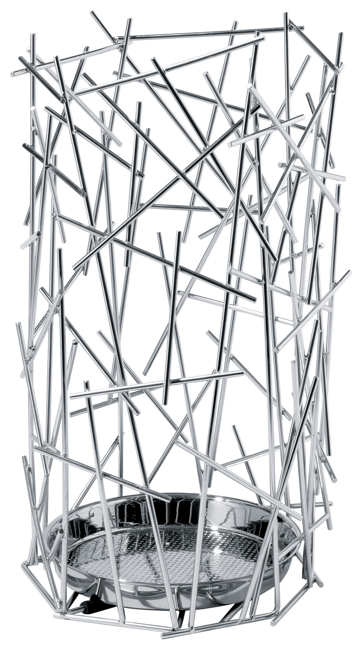 Dekoration - Einfach praktisch - Blow up Schirmständer - Alessi - Stahl - rostfreier Stahl