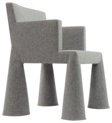Möbel - Möbel für Teens - V.I.P. Chair Sessel mit Rollen - Moooi -  - Schaumstoff, Stahl, Wolle